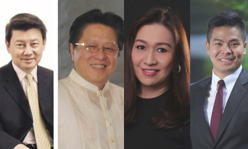 Dr. Henry Limbonliong, CEO of the Sterling Paper Group of Companies; Dr. Cecilio Pedro, CEO of the Lamoiyan Corporation; Ms. Kathleen Dy-Go, Managing Director of Universal Records; and Mr. Marvin Tiu Lim, Chief Growth Officer (CGO) of Mega Global Corporation